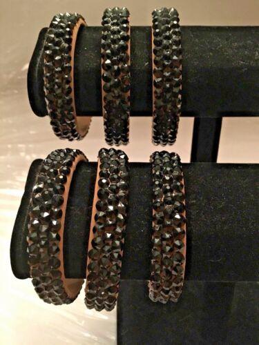 BALLROOM DANCE BRACELET Jewelry BLACK (Jet Rhinestones) - Made with SWAROVSKI