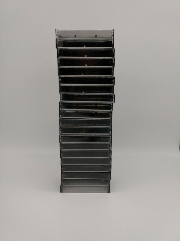 Lot of 25 Empty Hard Plastic Cassette Tape Cases Black Clear