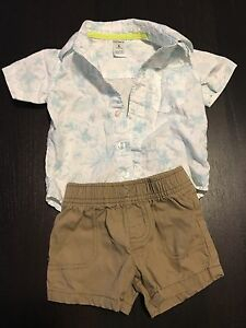 Carters 6month Hawaiian shirt outfit with shorts