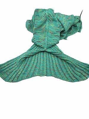 LAGHCAT Mermaid Tail Blanket Knit Crochet Mermaid Blanket