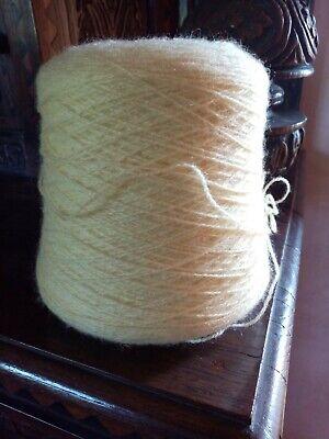 Wool YARN  CONE lemon yellow, used for sale  Shipping to Nigeria