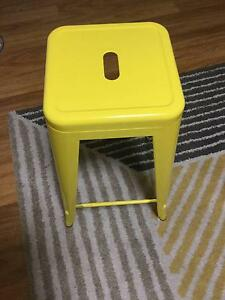 yellow bar stools (price for a pair of 2) Northcote Darebin Area Preview