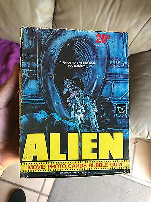 Topps Alien Movie Photo Trading Cards Bubble Gum Full Box 1979