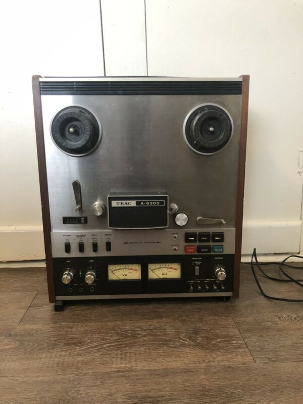 TEAC A-6300 Auto Reverse Reel to Reel Tape Recorder Untested Sold As Is/Parts