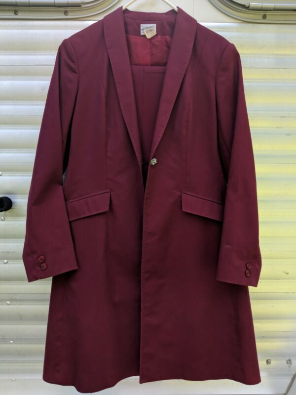 Reed Hill 2 piece Burgundy SaddleSeat suit Great condition!! sz 14