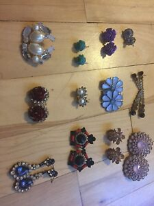 Stud, loop and dangling Earrings, bracelets, necklaces