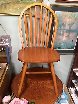 Vintage Mid Century Ercol Style Wooden Stick Back Chair Retro