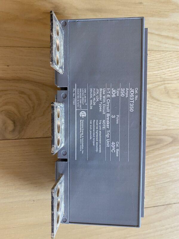 NEW ITE 350 AMP CIRCUIT BREAKER TRIP UNIT 600 VAC 3 POLE JD63T350