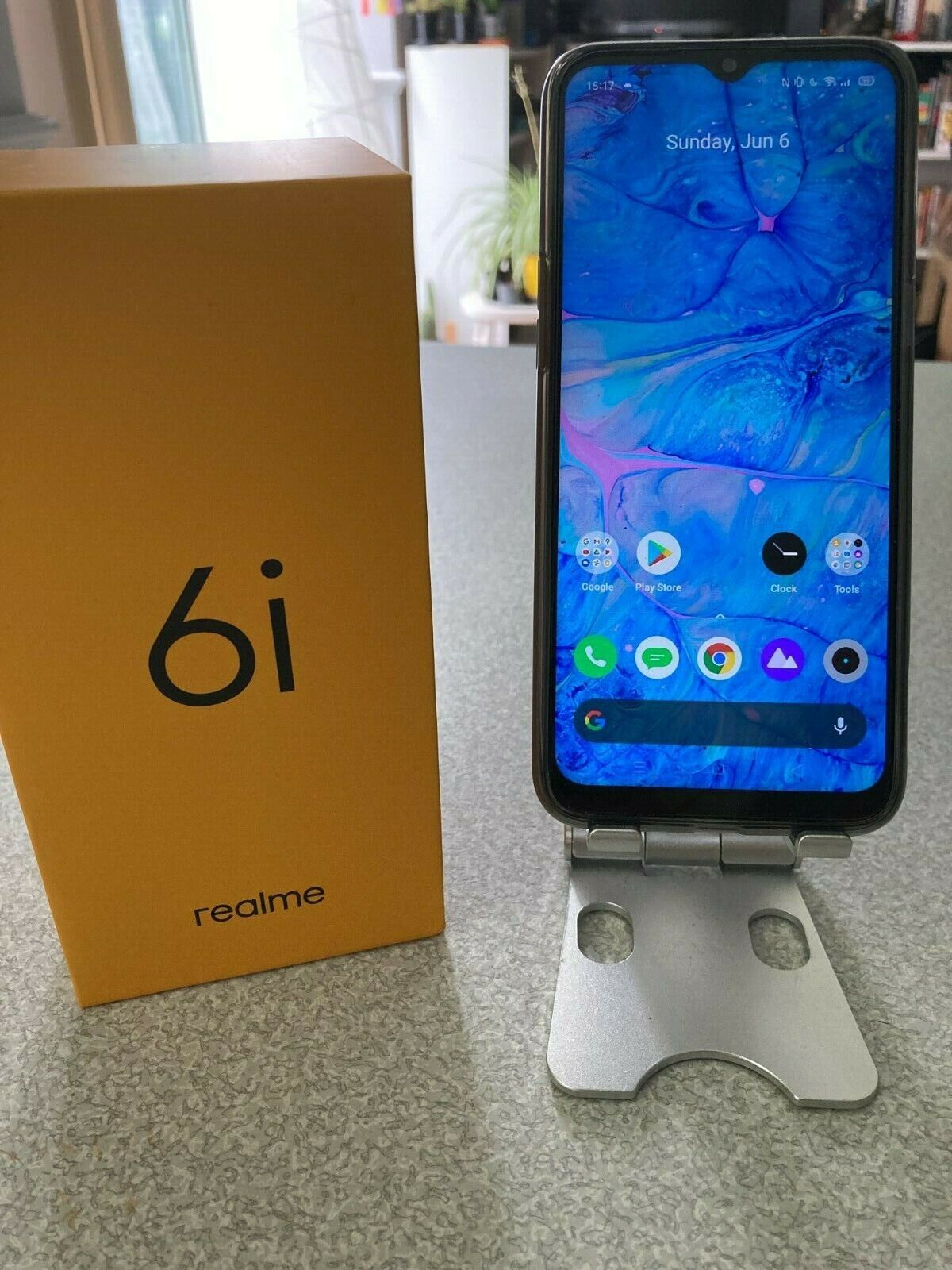 """Android Phone - realme 6i – 4GB + 128GB, 6.5"""" screen UNLOCKED, BOXED,Comet White, mobile phone"""