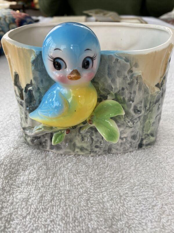 Vintage 1960 Relpo Bluebird Planter Made In Japan