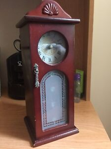 Mini Clock and Jewelry Cabinet For Sale!