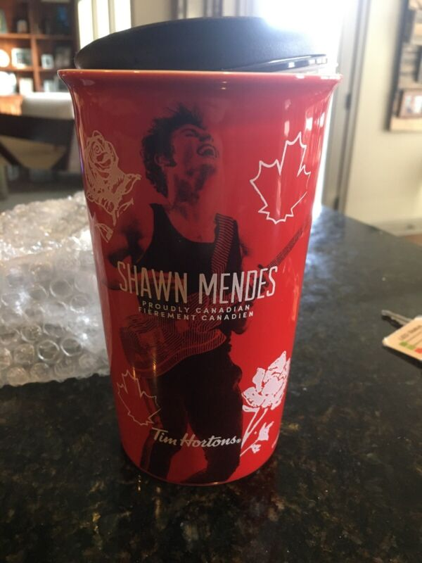 Tim Hortons 10oz Double Wall Ceramic Mug Red - Shawn Mendes