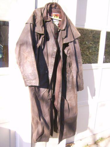 kakadu oilcloth duster   brown  xxl