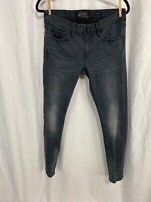 Super Dry COPPER BLACK DENIM Men's 31 X 32 SKINNY JEANS