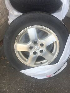 "Dodge Caravan 16"" mags and tires 215-65-R16"