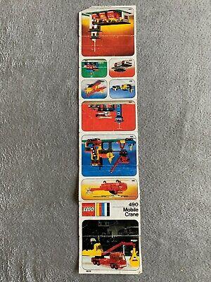 RARE 1974 Vintage LEGO #490 MOBILE CRANE - instructions only