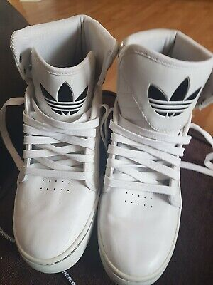 Adidas high tops size 8 white/cream
