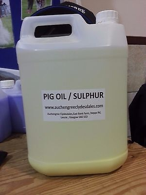 Pig Oil  Leg oil and sulphur  , clear  1ltr - for horse feathers and mud fever