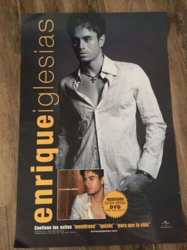 ENRIQUE IGLESIAS QUIZAZ RARE PROMO POSTER NEVER DISPLAYED