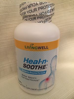 Heal-N-Soothe Systemic Enzymes By LIVINGWELL 90 Caps Inflammation/Sinus Health