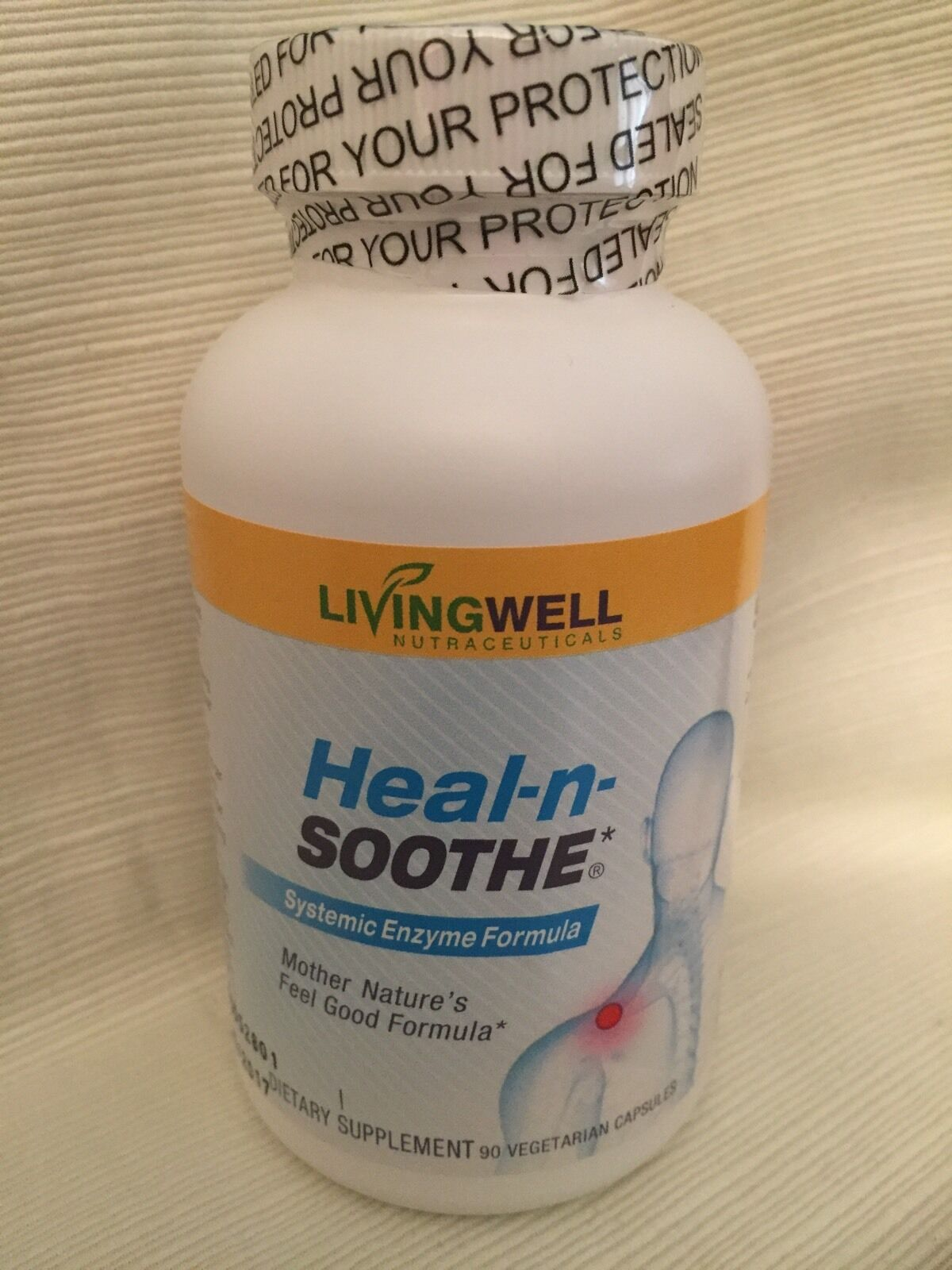 Купить Heal-N-Soothe Systemic Enzymes By LIVINGWELL 90 Caps Inflammation/Sinus Health