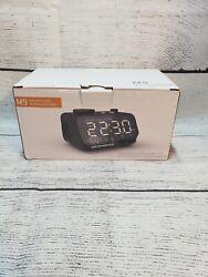 Bluetooth Speaker Alarm Clock Wireless Stereo Radio Player LED/FM/AUX/Dual USB