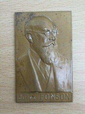 Vintage Bronze Medal, Belgian Jules Fonson, Godefroid Devreese, c1937