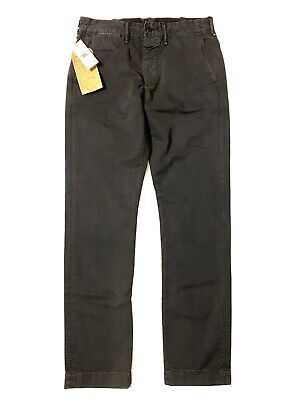 RRL Double RL Ralph Lauren Mens Officer Chino Pants Charcoal Gray (MSRP $340)