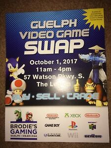 Guelph Video Game Swap & Sale, October 1, 11-4