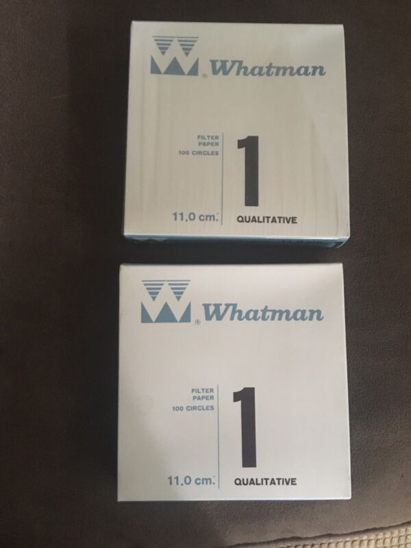 2 New Open Boxes Whatman Filter Papers Number 1 Qualitative 11cm