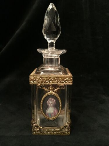MAGNIFICENT BACCARAT CRYSTAL AND DORE BRONZE PERFUME BOTTLE