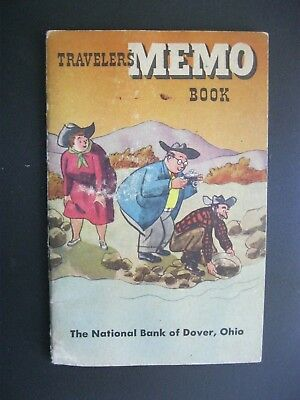 1949 Travelers Memo Book National Bank of Dover OH COWBOY Paning for GOLD XX