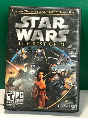 Star Wars: The Best of PC WITH CASE AND GAMES ONLY (PC, 2006) (BIG (The Best Pc Case)