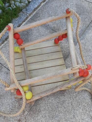 Holzschaukel für den Garten Babyschaukel Kleinkind
