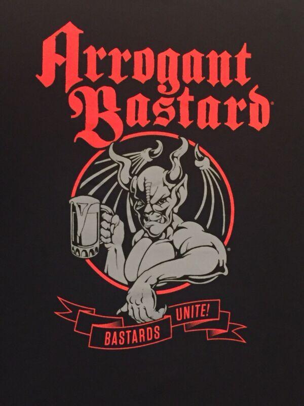 NEW Arrogant Bastard BASTARDS UNITE! XXX-Large Black T-Shirt Brewery Craft Beer