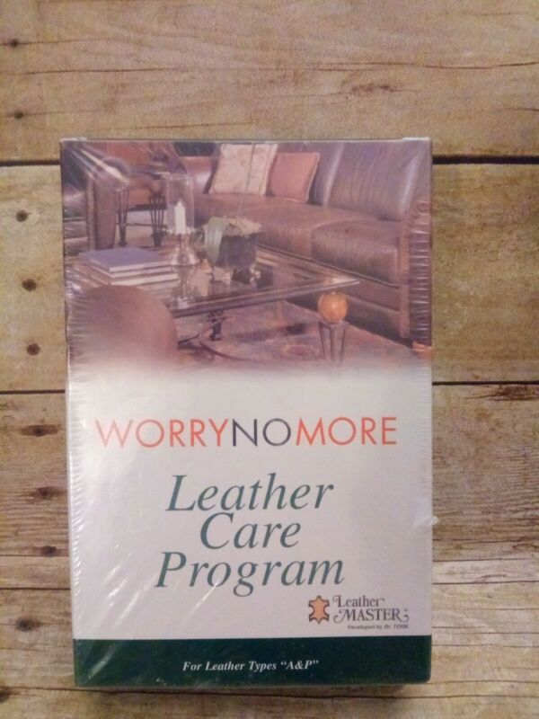 NEW Worry No More Leather Care Program Leather Types A&P Leather Master Sealed