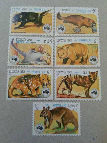 Laos 1984 Animals Stamps Lot MNH  - $1.15