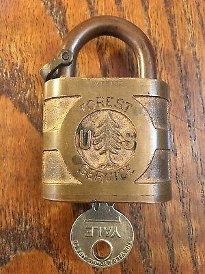 Usfs Forest Service Pine Tree Logo Padlock W  Key