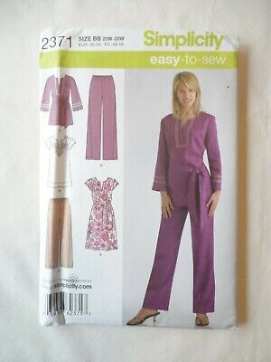 Vintage 2010 Sewing Pattern Dress or Tunic and Pants in 2 Lengths Size 20W - 28W