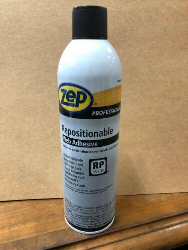 (12oz) Zep R37601 Repositionable Web Adhesive Aerosol Spray Can glue bond perm