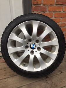 4 Continental Winter Tires on BMW rims. 225/45/17.