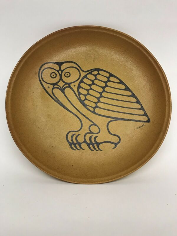 Blue Mountain Pottery Plate By Inuit Artist Apa Kark