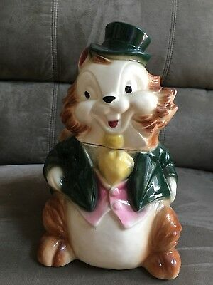 Brush Squirrel with Top Hat Cookie Jar Pre-Owned