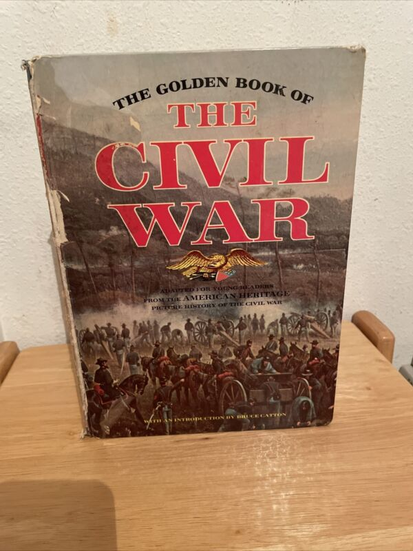 1961 THE GOLDEN BOOK OF THE CIVIL WAR ARTICLES FACTS PHOTOS AMERICAN HERITAGE HC