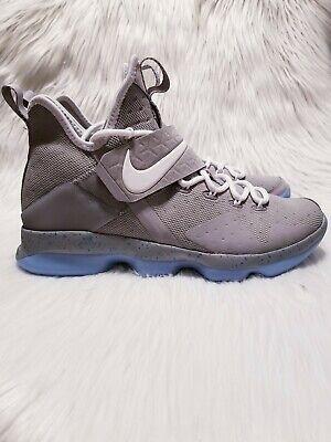 Nike Lebron 14 XIV Marty Mcfly Men's Size 8.5 Basketball Shoes Grey 852405-005