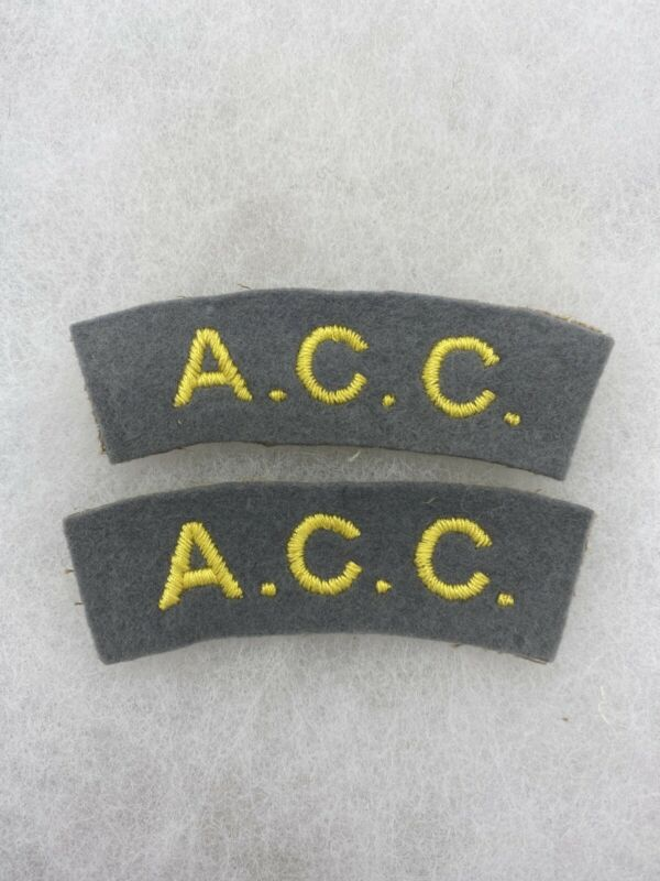 British Army Catering Corp Felt Tab Set (E777