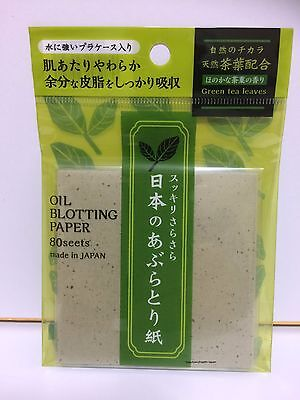 JAPAN SCENTED BLOTTING PAPER SEBUM/OIL CONTROL-ABSORB GREEN TEA SKIN BEAUTY CARE