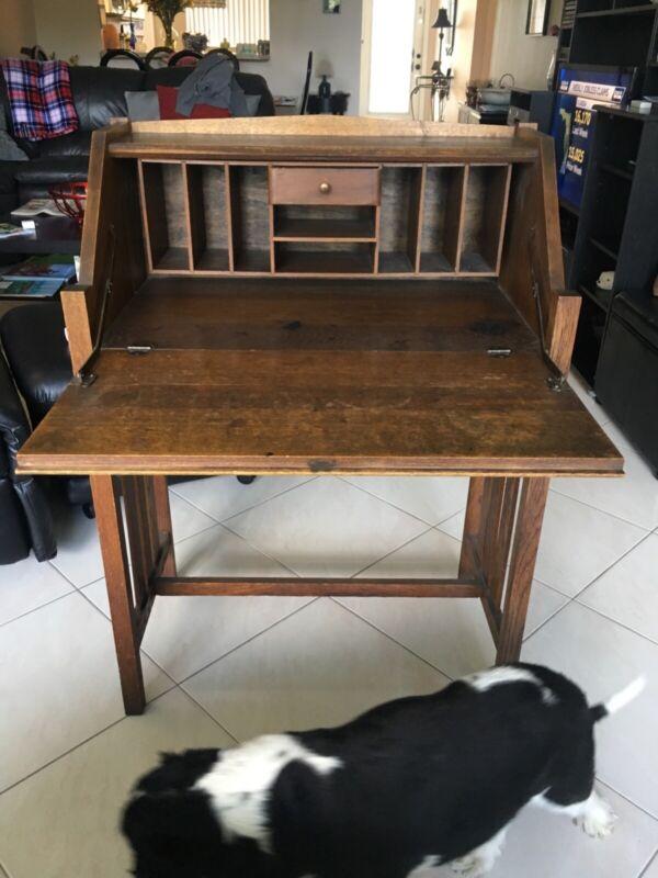 Woman's antique secretary desk 1900s old excellent