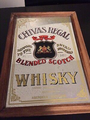 *Vintage Bar Sign* Chivas Regal Blended Scotch Whisky Bar Sign Mirror Scotland