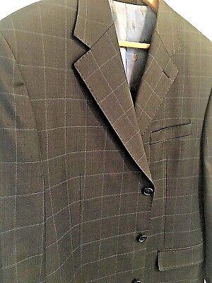 t Sport Coat Navy Blue Check Gatsby Summer Mens 44R (Gatsby Herren-anzüge)